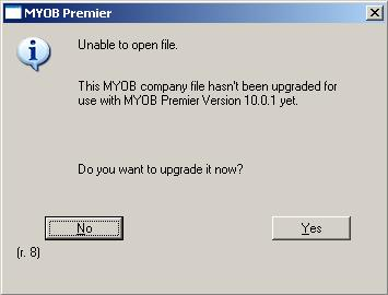 'unable to open file' message