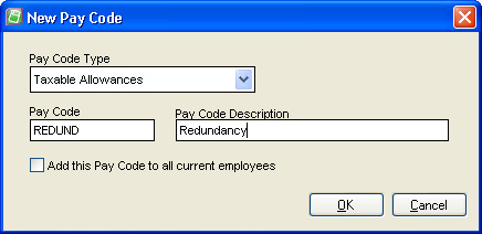 Redundancy Pay Code