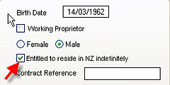 Entitled to Reside in NZ