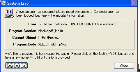 Error 1733 Class definition