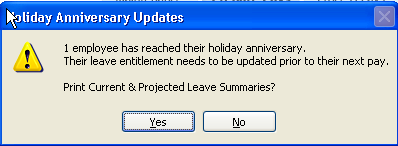 Holiday Update Prompt