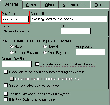Pay Code in Payroll