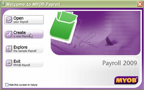 Create New Payroll