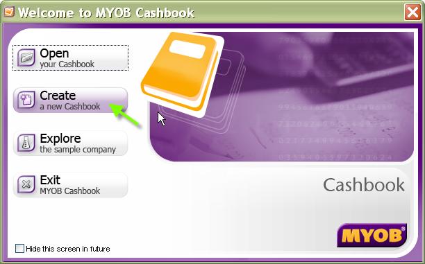Myob Cash Book